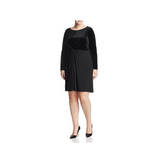 MICHAEL Michael Kors Womens Plus Party Dress Velvet Knee-Length