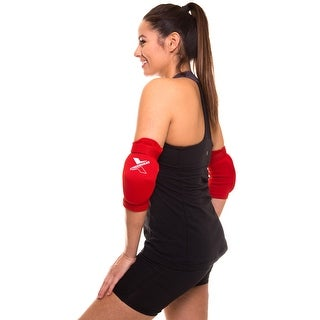 Adjustable Elbow Brace Support Elastic Wrap Pain Relief Pad Protector WRP2 - Red