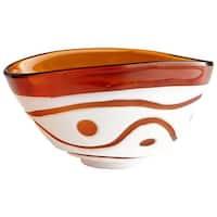Cyan Design Large Dotty Bowl Dotty 11.75 Inch Wide Glass Decorative Bowl - n/a