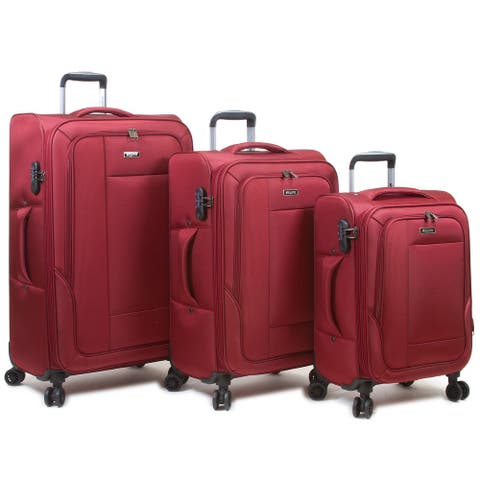Dejuno Travelers Softside Spinner 3 Piece Luggage Set