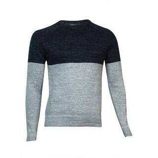Kenneth Cole REACTION Men's Marled Colorblocked Sweater (Heather Grey, XXL) - Heather Grey - XxL