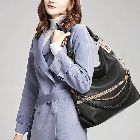Dasein Women Hobo Bag with Multi Shoulder Straps