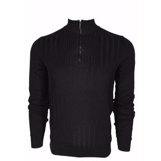 BOSS Hugo Boss Black Label $195 Slim Fit Zip Neck Sweater Shirt Large
