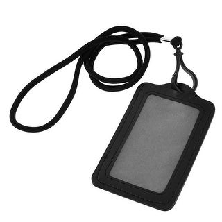 Black Plastic Lobster Clasp Nylon Strap Faux Leather Card Holder