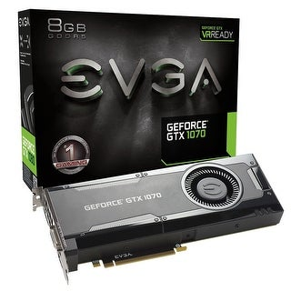 Evga Geforce Gtx 1070 Gaming, 8Gb Gddr5, Dx12 Osd Support (Pxoc) Graphics Card 08G-P4-5170-Kr