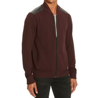 Kenneth Cole Reaction Merlot Mens Small Full Zip Sweater
