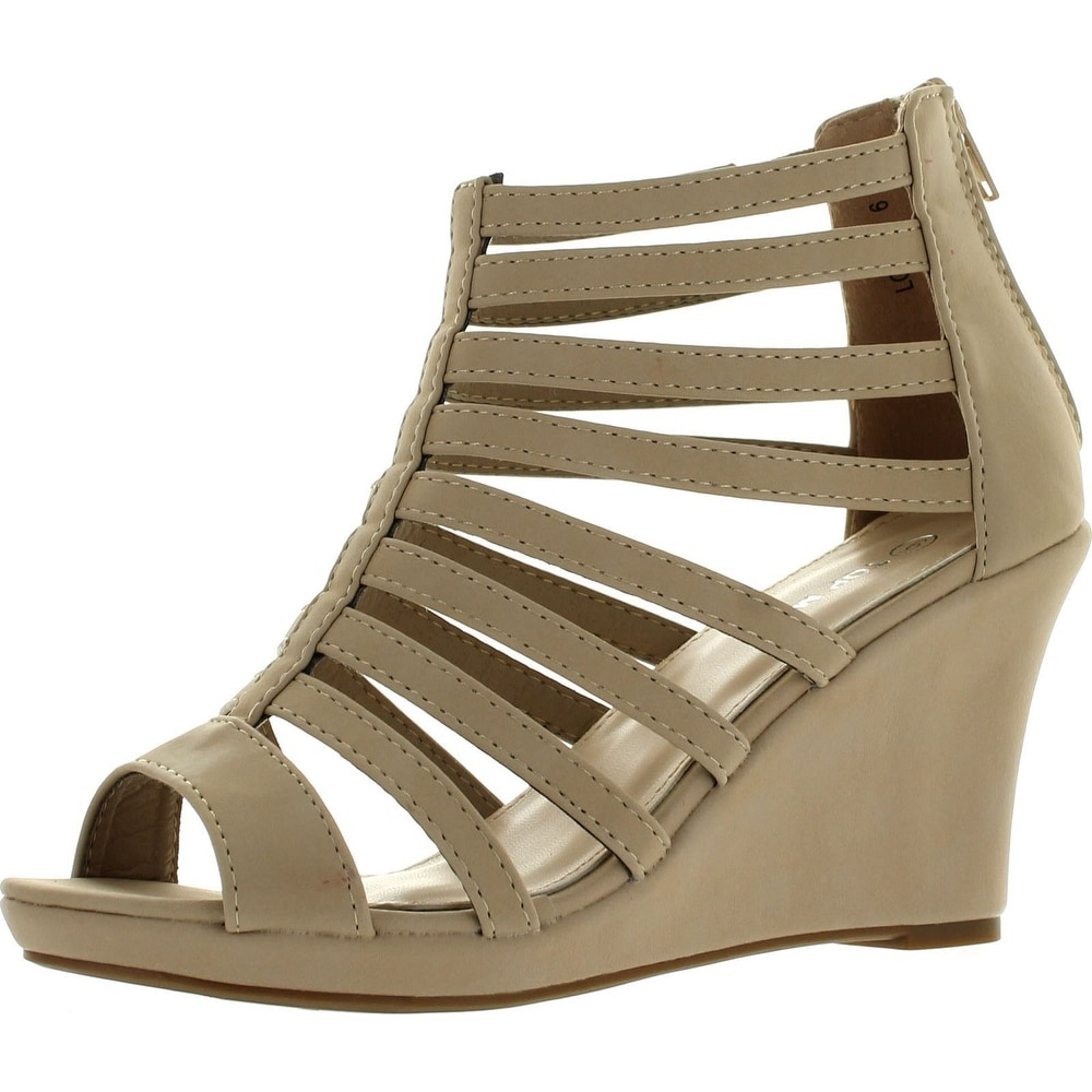 Lucky Top Girls Lord-7 Gladiator Wedge Sandals