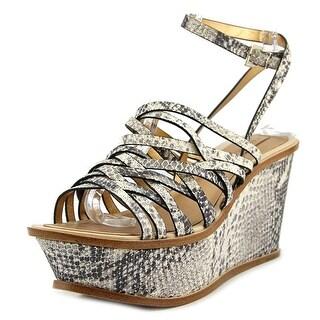 BCBG Max Azria Hazel 2   Open Toe Leather  Wedge Sandal