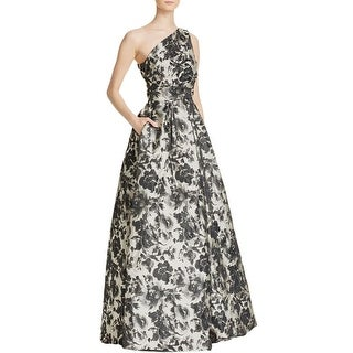 Carmen Marc Valvo Womens Formal Dress One-Shoulder Floral - 12