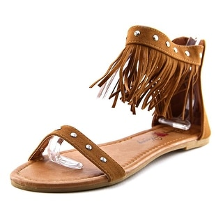 Penny Loves Kenny Totem Women Open Toe Synthetic Brown Sandals