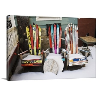 """""""Chairs made from skis"""" Canvas Wall Art"""