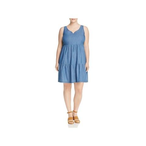 Junarose Womens Plus Jrmira Casual Dress Sleeveless Above Knee