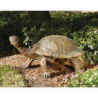 Design Toscano  The Tranquil Tortoise Garden Sculpture: Giant