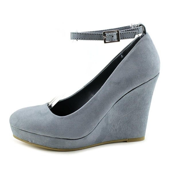 Material Girl Womens Vivie Fabric Closed Toe Ankle Strap Platform Pumps
