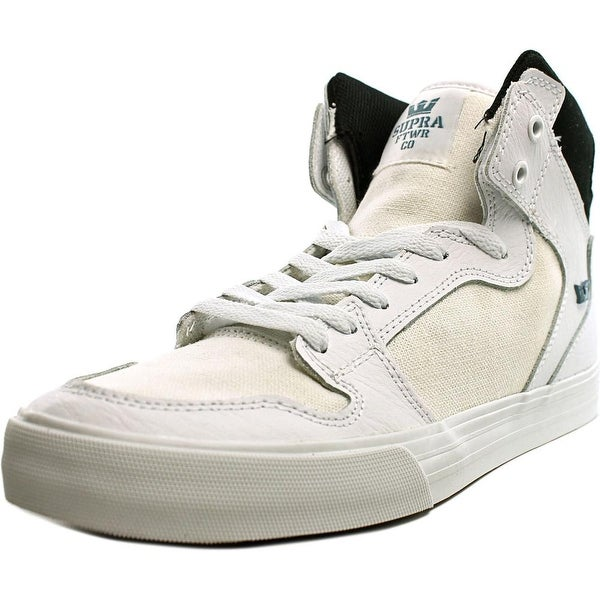 Supra Vaider Men White/Black-White Skateboarding Shoes