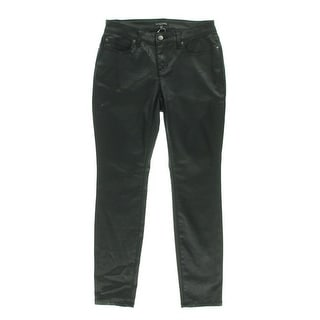 Eileen Fisher Womens Petites Coated Low-Rise Skinny Jeans - 8P
