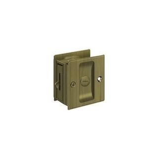 """Deltana SDL25 2-1/2"""" x 2-3/4"""" Solid Brass Pocket Door Privacy Lock"""