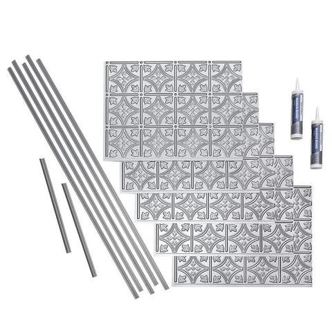 Fasade Traditional Style #1 Argent Silver 15-square Foot Backsplash 15 Sq Ft Kit