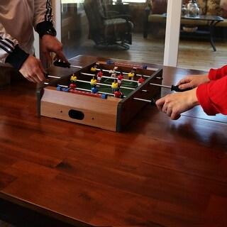Sunnydaze 20-Inch Tabletop Foosball Table Game - Mini Sports Arcade Soccer