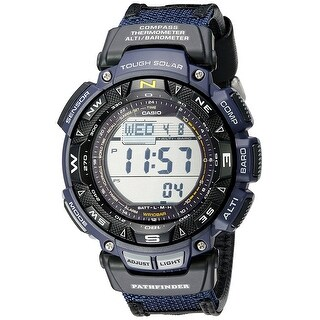Casio Men's Pathfinder Triple Sensor Multi-Function Sport Watch Blue Nylon Strap