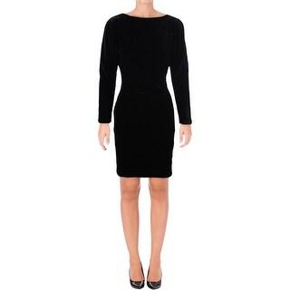 Lauren Ralph Lauren Womens Evening Dress Open Shoulder Velvet