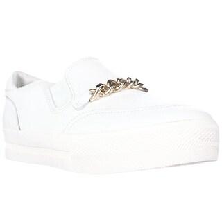 Ash Footwear Joe Chain Strap Fashion Platform Sneakers - White/Gold
