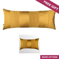Classic Glam Solid Yellow Textured Decorative Handmade Throw Pillow Cover
