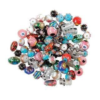 School Specialty Moretti Glass Beads, Assorted Size, Assorted Color, 1/2 Pound