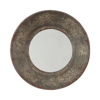 Ashley Furniture Carine Round Tapered Design Accent Mirror