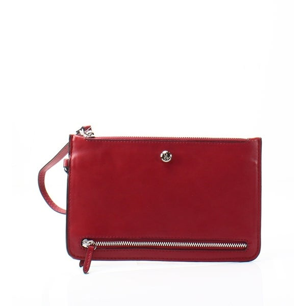 Nine West NEW Red Pleather Table Treasures 3 Zipper Wristlet Wallet
