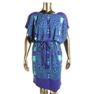 Sangria Womens Casual Dress Matte Jersey Snake Print - 16