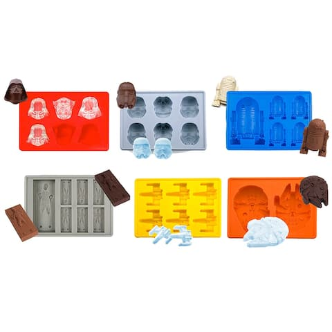 Silicone Ice Tray Star Wars Party Theme 6pc Ice Cube Chocolate Candy Jello Molds