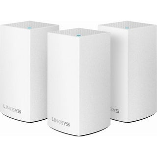 Linksys Velop Dual-Band Mesh Wi-Fi System 3-Pack - White - 8.2 x 12.2 x 4.2