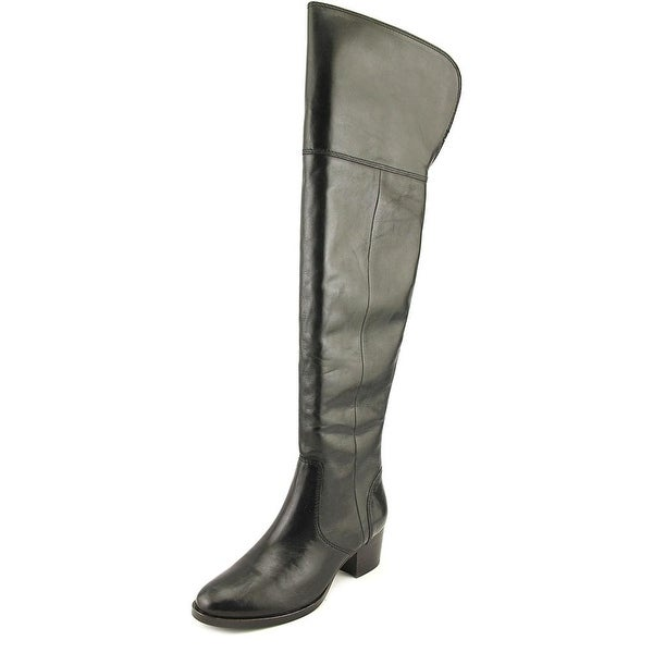 29d9982d575 Shop Frye Clara OTK Round Toe Leather Over the Knee Boot - Free ...