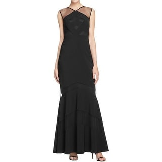 JS Collections Womens Evening Dress Illusion Mermaid