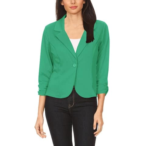 Women's Casual Basic Long Sleeve Solid Blazer Jacket