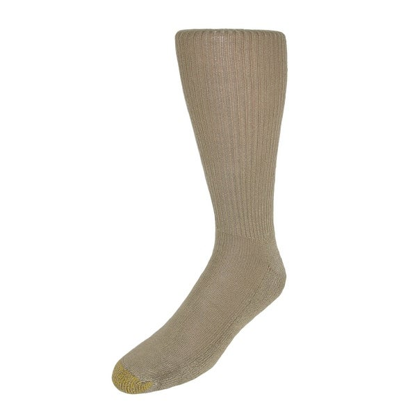Gold Toe Men's Moisture Control Foot Fluffies Socks (Pack of 6)