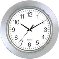 Timekeeper 6450 Bezel Round Wall Clock, Chrome - 13 in.