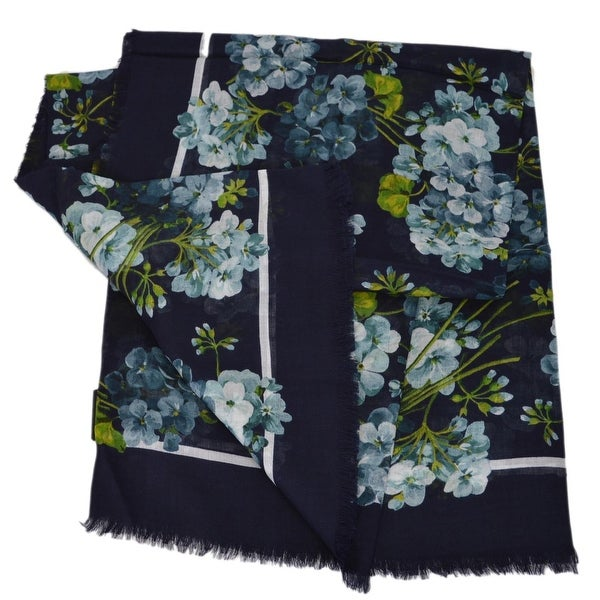 06920e9a81d Gucci Women  x27 s 432735 Large Modal and Silk Blooms Scarf Shawl Wrap -