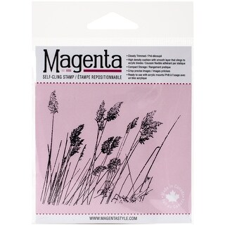 "Magenta Cling Stamps 3""X3.25""-Wild Miscanthus"