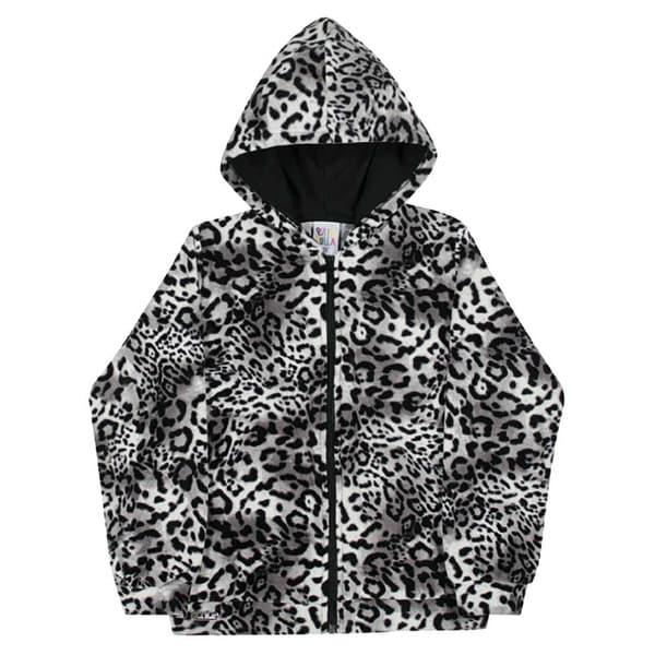 Girls Hoodie Jacket Cheetah Print Kids Sweater Pulla Bulla Sizes 2-10 Years