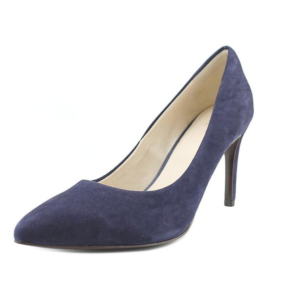 Cole Haan Amela Grand 85 MM Women Pointed Toe Suede Blue Heels
