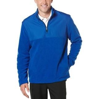 PGA Tour Quarter Zip Fleece Golf Sweatshirt Surf The Web Blue X-Large