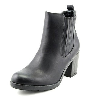 Mia Farwest Women Round Toe Synthetic Black Ankle Boot