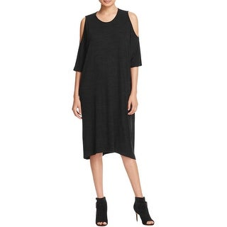 Three Dots Womens Shirtdress Cold Shoulder Knit