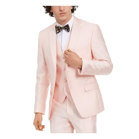 ALFANI Mens Pink Single Breasted, Jacket 40L
