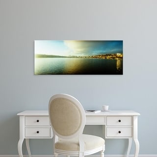 Easy Art Prints Panoramic Image 'City with Gasworks Park in the background, Seattle, King, Washington State' Canvas Art