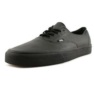 Vans Authentic Men  Round Toe Leather Black Skate Shoe