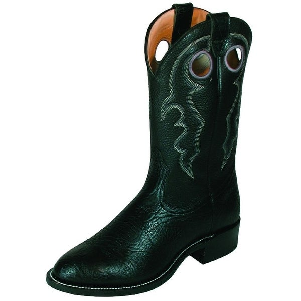 Boulet Western Boots Mens Cowboy Leather Roper Black Taurus 00