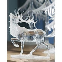 "Pack of 4 Icy Crystal Decorative Caribou Figurines 8"" - Clear"